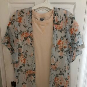 American Eagle Floral Duster